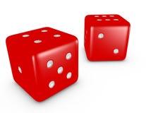 3d rendem de um par vermelho de dados Imagem de Stock Royalty Free