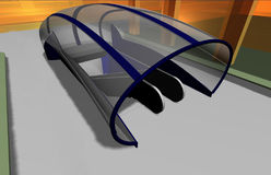 3D rendem de um passagem subterrânea Fotografia de Stock