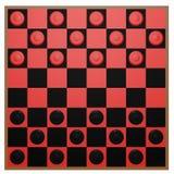 3d rendem de um tabuleiro de damas Imagens de Stock