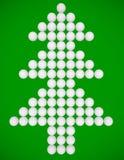 3d rendem de uma árvore de Natal Imagens de Stock Royalty Free