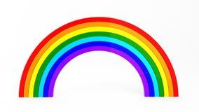 3d rendem do arco-íris ilustração do vetor