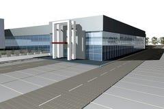 3D rendem do centro de negócios moderno ilustração do vetor