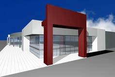 3D rendem do centro de negócios moderno Imagens de Stock