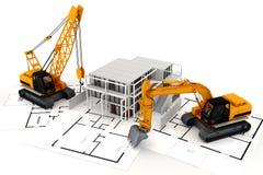 3d rendem do conceito da construção Fotografia de Stock