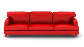 3d rendem do sofá de couro no branco ilustração royalty free