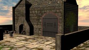 3D rendem a forja da fantasia imagens de stock royalty free