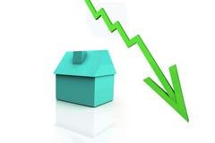3D rendem o conceito dos bens imobiliários Imagem de Stock
