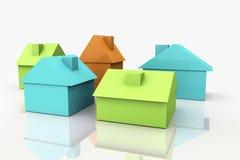 3D rendem o conceito dos bens imobiliários Fotos de Stock Royalty Free