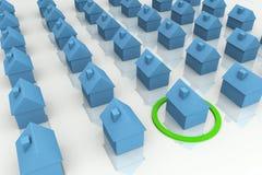 3D rendem o conceito dos bens imobiliários Foto de Stock