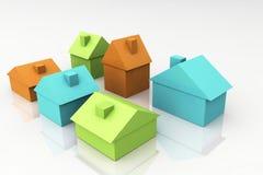3D rendem o conceito dos bens imobiliários Imagens de Stock Royalty Free