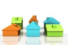 3D rendem o conceito dos bens imobiliários Imagem de Stock Royalty Free