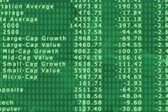 3d rendem o gráfico do mercado de valores de acção com seta Fotografia de Stock Royalty Free