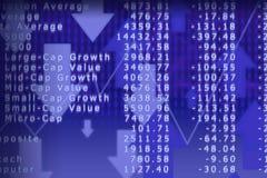 3d rendem o gráfico do mercado de valores de acção com setas Fotos de Stock Royalty Free