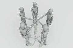 3d rendem o grupo do trabalho da equipe Imagens de Stock
