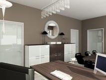 3D rendem o interior moderno do escritório ilustração do vetor