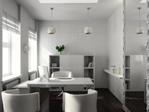 3D rendem o interior moderno do escritório Imagens de Stock