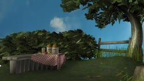 3D rendem o tempo de verão Imagens de Stock