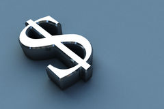 3D rendem sinais do dinheiro Imagens de Stock Royalty Free