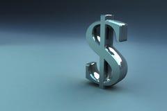 3D rendem sinais do dinheiro Fotografia de Stock Royalty Free