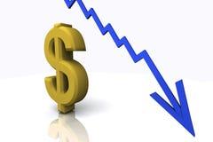 3D rendem sinais do dinheiro Foto de Stock Royalty Free