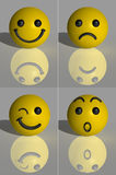 3D rendem Smilies Foto de Stock