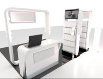 3D rendent avec l'étagère et le compteur de conception Image libre de droits