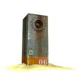 3d rendent d'un soundsystem industriel de haut-parleur Photo stock