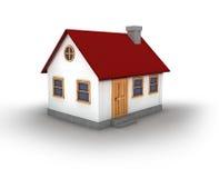 3D rendent d'une maison illustration libre de droits