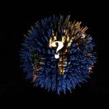 3d rendent d'une planète surpeuplée image libre de droits
