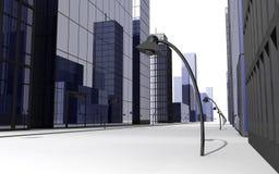3D rendent de la rue Image libre de droits