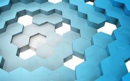 3D rendent de la structure d'hexagone Images libres de droits