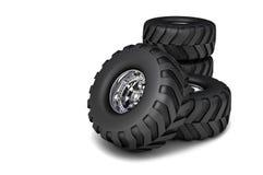 3D rendent des pneus de camion de jouet de RC Image stock