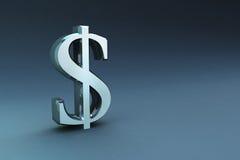3D rendent des signes d'argent Photos libres de droits