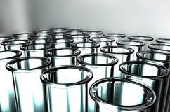 3D rendent des tubes à essai Image libre de droits