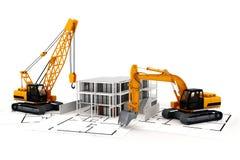3d rendent du concept de construction Photos libres de droits