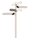 3d rendent du signe de route en bois de flèches Photos stock