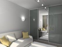 3D rendent l'intérieur moderne de la salle de séjour Photographie stock libre de droits
