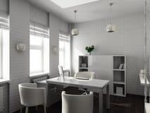 3D rendent l'intérieur moderne du bureau Image stock