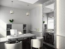 3D rendent l'intérieur moderne du bureau illustration libre de droits