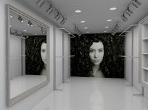 3D rendent l'intérieur moderne du système illustration libre de droits