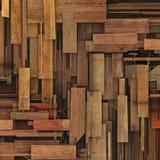 3d rendent le contexte en bois réduit en fragments de planche de bois de construction Photos libres de droits