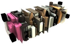 3d render of abstract graffiti sculpture Stock Photography