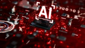 Free 3D Render AI Artificial Intelligence Technology CPU Central Processor Unit Chipset On The Printed Circuit Board For Electronic And Stock Photography - 137795292
