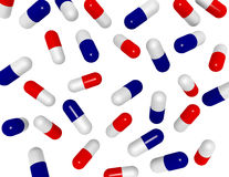 3d Render Background of Falling Pills Royalty Free Stock Photo