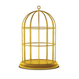 3d render of bird cage. On white Royalty Free Stock Photo