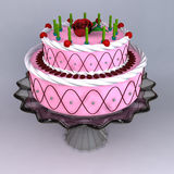A 3D render of birthday and wedding cake Stock Images