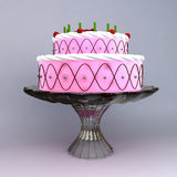 A 3D render of birthday and wedding cake Royalty Free Stock Photos