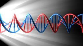 3D render bitmap - DNA model Stock Photography