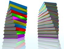 3D render of books Royalty Free Stock Photography