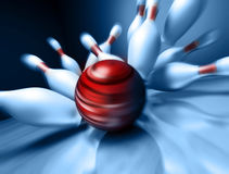3d render of a bowling ball royalty free illustration